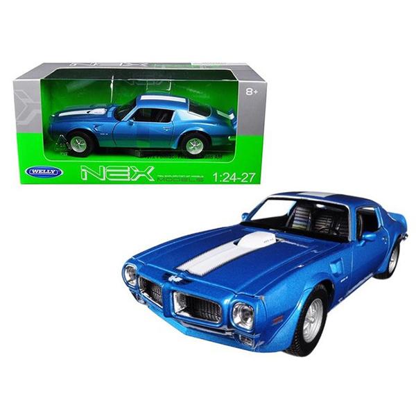 1972 Pontiac Firebird Trans AM син 1:(24-27) Welly