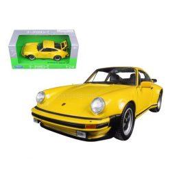 Porshe 911 Turbo 3.0 (1974) yellow 1:24 Welly