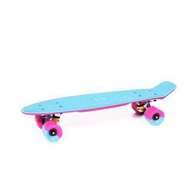 """Skateboard 2COLOR 22"""" aqua/pink"""