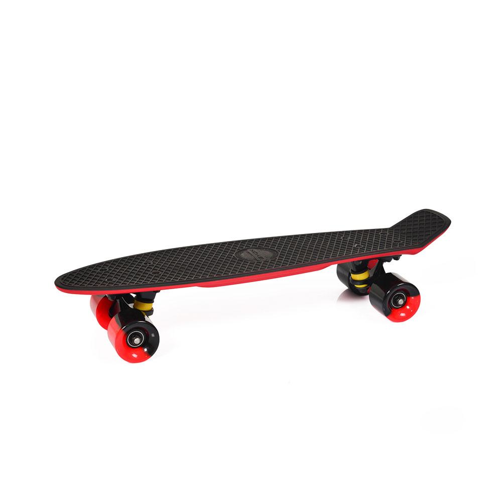 """Скейтборд 2COLOR 22"""" двуцветен черно/червено"""
