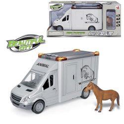 Камион за коне с кон 28cm City Service ZY912549-666-06P