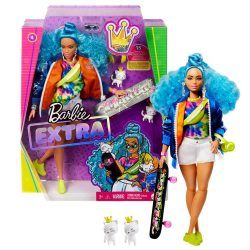 Barbie Extra #4 със скейтборд GRN30