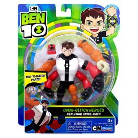 (BEN 10) Бен-Четирирък-Бяс - Omni-Glitch Heroes: Ben-Four Arms-Rath 76141