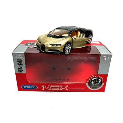 Bugatti Chiron златисто-чернo. Мащабен модел 1:34÷1:39 Welly
