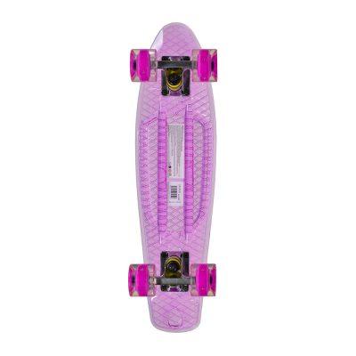 """Скейтборд с LED светещи колела Casper 22"""" прозрачно лилав"""