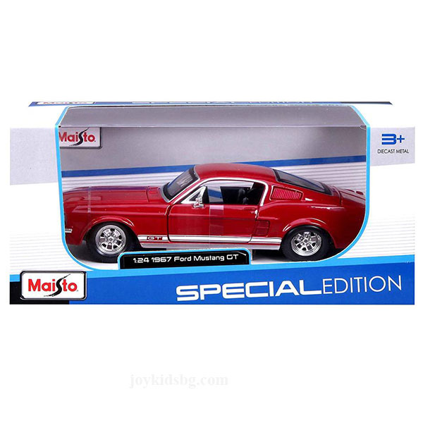 Ford Mustang GT 1967 червен Maisto 1:24