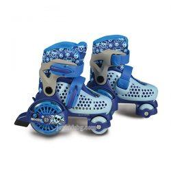 Little Beetle(26-29) сини регулируеми ролкови кънки с LED светещи колела
