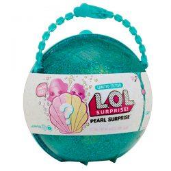 Кукла L.O.L. Surprise в тюркоазена раковина Лимитирана серия със супер рядка куклаTot и Lil Sister (сестричка Лил). MGA LOL Surprise Pearl Surprise Doll
