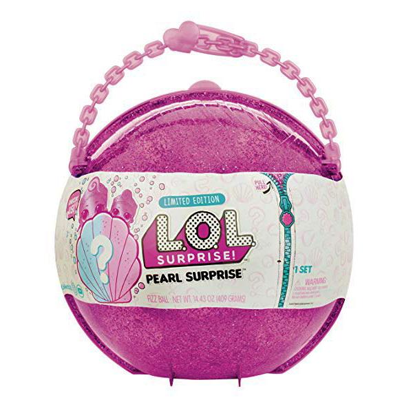 Кукла L.O.L. Surprise в розова раковина Лимитирана серия със супер рядка куклаTot и Lil Sister (сестричка Лил). MGA LOL Surprise Pearl Surprise Doll
