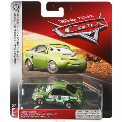 Metallic Nick Stickers - Disney / Pixar Cars SCAVENGER HUNT