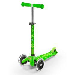 Mini Micro Deluxe Green LED със светещи колела
