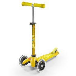 Mini Micro Deluxe Yellow LED тротинетка със светещи колела