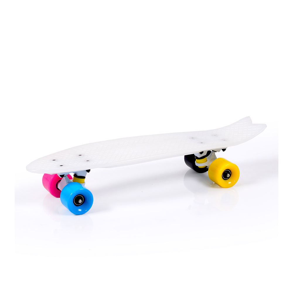 """Скейтборд Pastel 23"""" бял"""