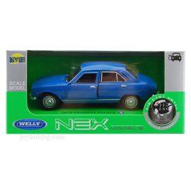 Peugeot 504 (1975) синьо 1:34÷1:39 Welly box