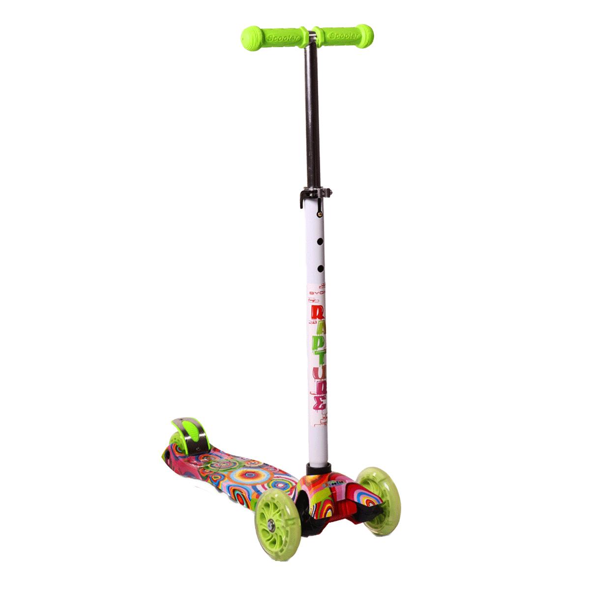 8f0cbac1d19 Многоцветна тротинетка със светещи колела Rapture (зелено Дъга) –  JoyKidsbg.com
