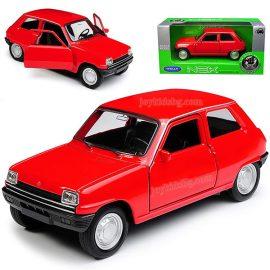 Renault 5 червенo. Мащабен модел 1:34÷1:39 Welly