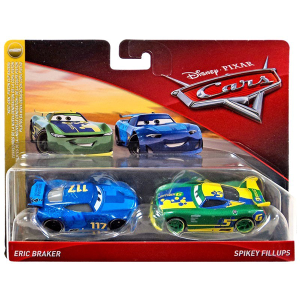 "Spikey Fillups + Eric Braker Cars ""NEXT-GEN"" Piston Cup Racers"