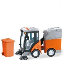Почистваща кола 20см с кофа City Service Sweeper 1:16 1704A210