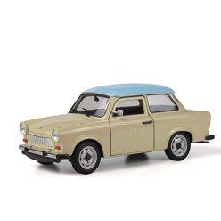 Trabant 601 бежов със син покрив1:24 Welly