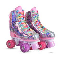 Roller skates Unicorn(31-34) - регулируеми ролкови кънки със LED светещи колела