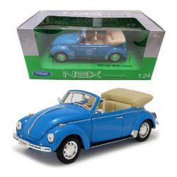 Volkswagen Beetle (convertible) син 1:24 Welly