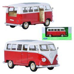 Volkswagen T1 Bus (1963) червен 1:24 Welly